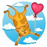 χαριτωμένος βαλεντίνος γατών Στοκ Εικόνες