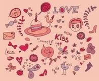 χαριτωμένος βαλεντίνος doodle Διανυσματική απεικόνιση