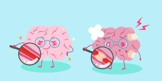 Χαριτωμένος εγκέφαλος κινούμενων σχεδίων Στοκ φωτογραφία με δικαίωμα ελεύθερης χρήσης