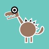 χαριτωμένος δεινόσαυρο&sig Στοκ εικόνες με δικαίωμα ελεύθερης χρήσης