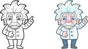 Χαριτωμένος επιστήμονας, αστεία απεικόνιση Στοκ εικόνα με δικαίωμα ελεύθερης χρήσης