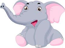 χαριτωμένος ελέφαντας μω&r Στοκ Εικόνες