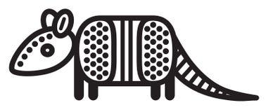 Χαριτωμένος ζωικός αρμαδίλος - απεικόνιση Στοκ εικόνα με δικαίωμα ελεύθερης χρήσης