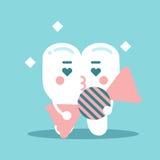Χαριτωμένος η καραμέλα εκμετάλλευσης χαρακτήρα δοντιών κινούμενων σχεδίων, οδοντική διανυσματική απεικόνιση για τα παιδιά Στοκ φωτογραφία με δικαίωμα ελεύθερης χρήσης