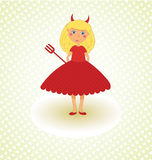 χαριτωμένος διάβολος λί&gam Στοκ φωτογραφία με δικαίωμα ελεύθερης χρήσης