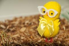 Χαριτωμένος κίτρινος αριθμός διακοσμήσεων κοτόπουλου Στοκ φωτογραφίες με δικαίωμα ελεύθερης χρήσης
