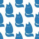 Χαριτωμένος λίγο άνευ ραφής σχέδιο γατών o στοκ φωτογραφίες