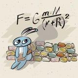 Χαριτωμένος μαθηματικός λαγουδάκι Διανυσματική απεικόνιση