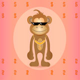 Χαριτωμένος μοντέρνος πίθηκος Στοκ εικόνες με δικαίωμα ελεύθερης χρήσης