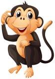Χαριτωμένος πίθηκος με τη μαύρη γούνα απεικόνιση αποθεμάτων