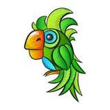 Χαριτωμένος παπαγάλος κινούμενων σχεδίων Στοκ φωτογραφία με δικαίωμα ελεύθερης χρήσης