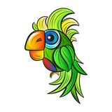 Χαριτωμένος παπαγάλος κινούμενων σχεδίων Στοκ Εικόνες
