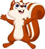 χαριτωμένος σκίουρος κινούμενων σχεδίων Στοκ Εικόνα