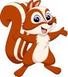 χαριτωμένος σκίουρος κινούμενων σχεδίων Στοκ Φωτογραφία