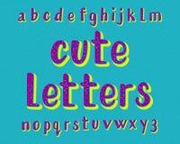 Χαριτωμένος χαρακτήρας επιστολών Πηγή κινούμενων σχεδίων Απομονωμένο αγγλικό αλφάβητο Στοκ φωτογραφία με δικαίωμα ελεύθερης χρήσης