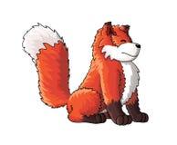 Χαριτωμένος χαρακτήρας κινουμένων σχεδίων αλεπούδων Στοκ εικόνα με δικαίωμα ελεύθερης χρήσης