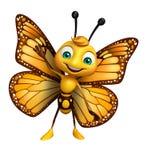 Χαριτωμένος χαρακτήρας κινουμένων σχεδίων πεταλούδων ελεύθερη απεικόνιση δικαιώματος
