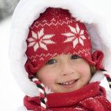 χαριτωμένος χειμώνας πορτρέτου κοριτσιών Στοκ φωτογραφία με δικαίωμα ελεύθερης χρήσης