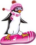 Χαριτωμένος χειμώνας penguin Στοκ φωτογραφία με δικαίωμα ελεύθερης χρήσης