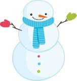 Χαριτωμένος χιονάνθρωπος κινούμενων σχεδίων Στοκ Φωτογραφία