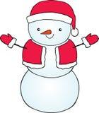 Χαριτωμένος χιονάνθρωπος κινούμενων σχεδίων Στοκ φωτογραφία με δικαίωμα ελεύθερης χρήσης