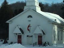 Χαριτωμένος χιονίζω-στην εκκλησία Στοκ εικόνα με δικαίωμα ελεύθερης χρήσης