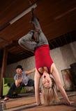 χαριτωμένος χορευτής κάτω από την άνω πλευρά Στοκ εικόνες με δικαίωμα ελεύθερης χρήσης