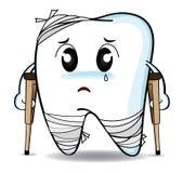 Χαριτωμένος δόντι ή τραυματισμός αποσύνθεσης κινούμενων σχεδίων Στοκ εικόνες με δικαίωμα ελεύθερης χρήσης