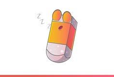 Χαριτωμένος ύπνος Emoji γομών Στοκ φωτογραφία με δικαίωμα ελεύθερης χρήσης