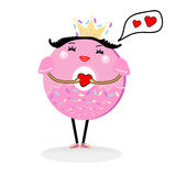 χαριτωμένος doughnut χαρακτήρας κινουμένων σχεδίων Στοκ Εικόνα
