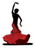 Χαριτωμένος flamenco χορευτής στο άσπρο υπόβαθρο Στοκ φωτογραφίες με δικαίωμα ελεύθερης χρήσης