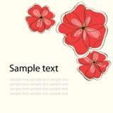 χαριτωμένος floral καρτών ανασ&kapp Στοκ Φωτογραφίες
