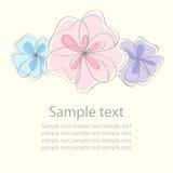 χαριτωμένος floral καρτών ανασ&kappa Στοκ Εικόνες
