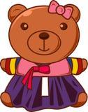 Χαριτωμένος teddy αντέχει στο φόρεμα Στοκ φωτογραφίες με δικαίωμα ελεύθερης χρήσης