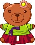 Χαριτωμένος teddy αντέχει στο φόρεμα Στοκ Εικόνα