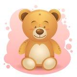 Χαριτωμένος teddy αντέχει το ρεαλιστικό σχέδιο που απομονώνεται απεικόνιση αποθεμάτων