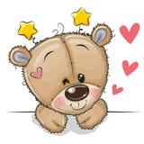 Χαριτωμένος teddy αφορά ένα άσπρο υπόβαθρο διανυσματική απεικόνιση