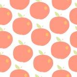Χαριτωμένο άνευ ραφής διανυσματικό υπόβαθρο μήλων Στοκ εικόνα με δικαίωμα ελεύθερης χρήσης