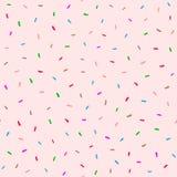 Χαριτωμένο άνευ ραφής σχέδιο με το γλυκό doughnut λούστρο Ροζ, καφετής, μπλε, πορφυρός, πράσινο ελεύθερη απεικόνιση δικαιώματος