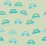 Χαριτωμένο άνευ ραφής σχέδιο αυτοκινήτων Στοκ φωτογραφία με δικαίωμα ελεύθερης χρήσης