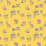 Χαριτωμένο άνευ ραφής σχέδιο κοριτσιών doodle Στοκ εικόνα με δικαίωμα ελεύθερης χρήσης