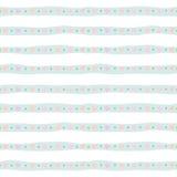 Χαριτωμένο άνευ ραφής σχέδιο με συρμένα τα χέρι λωρίδες στο μπλε κρητιδογραφιών Για την τυπωμένη ύλη και τον Ιστό Στοκ Εικόνα