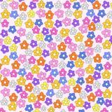 Χαριτωμένο άνευ ραφής υπόβαθρο λουλουδιών Στοκ φωτογραφία με δικαίωμα ελεύθερης χρήσης
