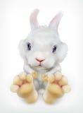 Χαριτωμένο άσπρο κουνέλι, διανυσματικό εικονίδιο Στοκ φωτογραφίες με δικαίωμα ελεύθερης χρήσης