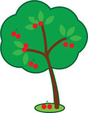 Χαριτωμένο δέντρο κερασιών στοκ εικόνες με δικαίωμα ελεύθερης χρήσης
