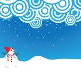 χαριτωμένο αγαθό χιονανθρώπων για το υπόβαθρο Στοκ εικόνα με δικαίωμα ελεύθερης χρήσης