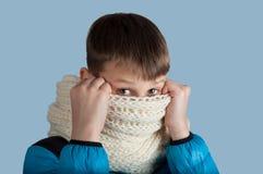 Χαριτωμένο αγόρι στο σακάκι και το μαντίλι Στοκ φωτογραφίες με δικαίωμα ελεύθερης χρήσης