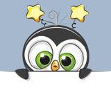 Χαριτωμένο αγόρι Penguin κινούμενων σχεδίων ευχετήριων καρτών απεικόνιση αποθεμάτων