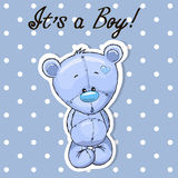 Χαριτωμένο αγόρι Teddy διανυσματική απεικόνιση