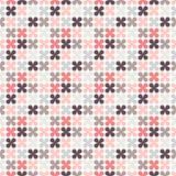 Χαριτωμένο αναδρομικό αφηρημένο floral άνευ ραφής σχέδιο Στοκ Εικόνα